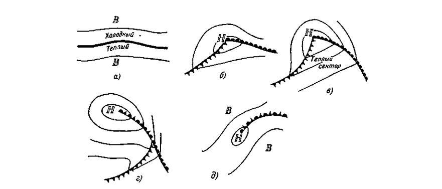 Схема развития фронтального